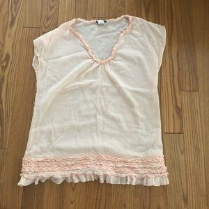 Peach J Crew gauze tunic cover-up, Small